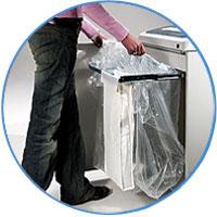 Удобная система очистки корзины.